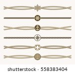 nautical vintage rope vector... | Shutterstock .eps vector #558383404