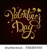 happy valentine s day hand... | Shutterstock .eps vector #558385450