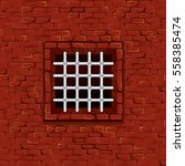 seamless prison brick wall with ... | Shutterstock .eps vector #558385474