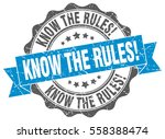 know the rules . stamp. sticker.... | Shutterstock .eps vector #558388474