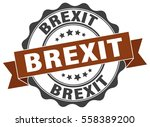 brexit. stamp. sticker. seal.... | Shutterstock .eps vector #558389200