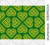 celtic heart shape vector... | Shutterstock .eps vector #558390214
