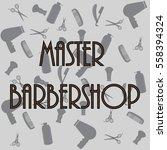 set of vintage barbershop... | Shutterstock .eps vector #558394324