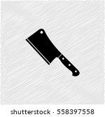 meat cleaver knife    black...   Shutterstock .eps vector #558397558