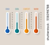 temperature measurement from... | Shutterstock .eps vector #558398788
