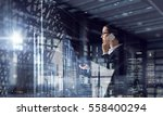another busy day in office .... | Shutterstock . vector #558400294