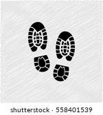 shoe print    black vector icon | Shutterstock .eps vector #558401539