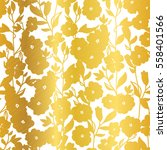 vector golden blossom flowers... | Shutterstock .eps vector #558401566