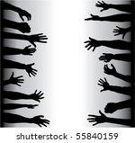 hands grabbing | Shutterstock .eps vector #55840159