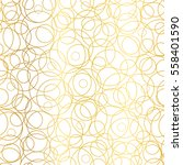 vector golden abstract circles... | Shutterstock .eps vector #558401590