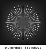 vintage sunburst. rays design... | Shutterstock .eps vector #558408013