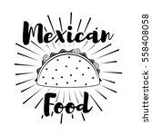 mexican food delicious taco... | Shutterstock .eps vector #558408058