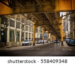 supports for chicago's city... | Shutterstock . vector #558409348