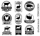 farm animal vintage meat ... | Shutterstock .eps vector #558410854