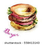 watercolor illustration of...   Shutterstock . vector #558413143
