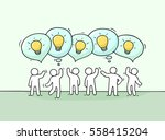crowd of working little people... | Shutterstock .eps vector #558415204