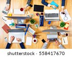 interacting as team for better... | Shutterstock . vector #558417670