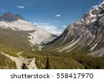 panoramic view of valley and... | Shutterstock . vector #558417970