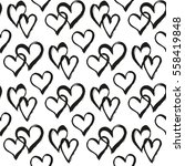 seamless pattern with hearts.... | Shutterstock .eps vector #558419848