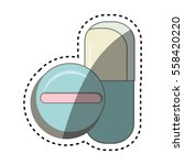 medicine drugs isolated icon | Shutterstock .eps vector #558420220