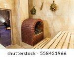 wooden finnish  infrared dry ... | Shutterstock . vector #558421966
