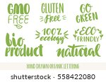 hand drawn eco friendly... | Shutterstock .eps vector #558422080