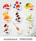 big collection icons of fruit... | Shutterstock .eps vector #558424300
