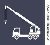 truck crane icon | Shutterstock .eps vector #558424900