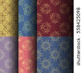 set of seamless vintage... | Shutterstock .eps vector #558425098