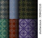 set of seamless vintage... | Shutterstock .eps vector #558425110