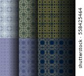 set of seamless vintage... | Shutterstock .eps vector #558425464