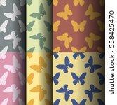 symmetrical pattern of random... | Shutterstock .eps vector #558425470