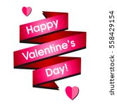 card valentine's day in a... | Shutterstock .eps vector #558429154