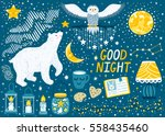 "vector set ""good night"" with... 