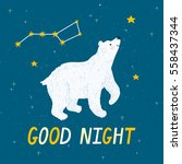 vector night background with... | Shutterstock .eps vector #558437344