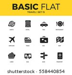basic set of earth  hotel  bag... | Shutterstock .eps vector #558440854