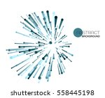vector abstract explosion lines.... | Shutterstock .eps vector #558445198