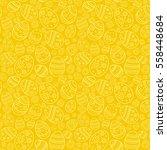 vector seamless cute pattern... | Shutterstock .eps vector #558448684