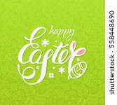 happy easter vector... | Shutterstock .eps vector #558448690