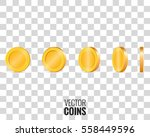gold coins in different shapes... | Shutterstock .eps vector #558449596