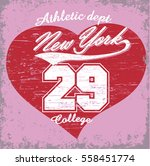 new york city typography... | Shutterstock .eps vector #558451774