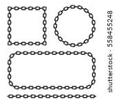 vector black and white chain... | Shutterstock .eps vector #558455248