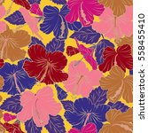 vector illustration of violet ... | Shutterstock .eps vector #558455410