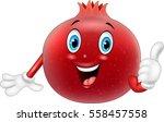 cartoon pomegranate giving... | Shutterstock .eps vector #558457558