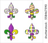 Set Of Four Bright Multicolore...