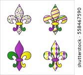 Set Of Four Bright Multicolore...