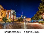 the evening view of teatro... | Shutterstock . vector #558468538