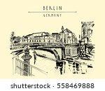 monbijou bridge in berlin ... | Shutterstock .eps vector #558469888