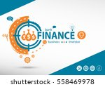 finance concept on target icon... | Shutterstock .eps vector #558469978