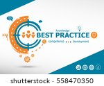best practice concept on target ... | Shutterstock .eps vector #558470350